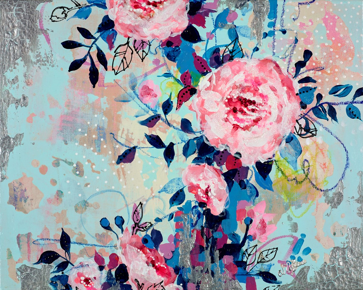 Flowery by amylee paris -  sized 20x16 inches. Available from Whitewall Galleries